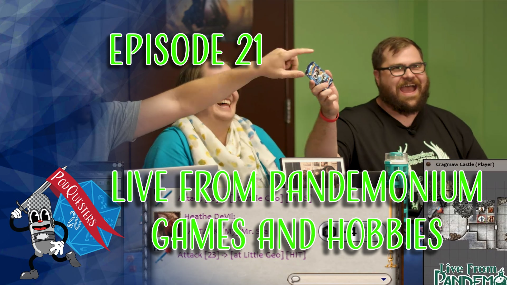 Podquesters - Episode 21: Live from Pandemonium Games and Hobbies