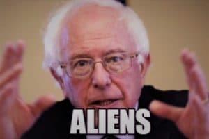 Bernie Sanders aliens