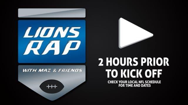 Watch Live - Lions Rap with Maz & Friends